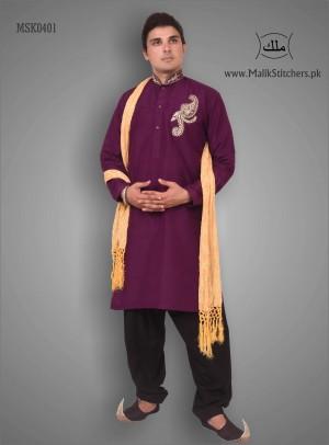 Buy Mens Fancy Kurta in Purple Colour from UK