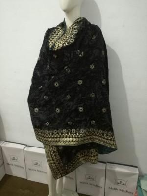 Designer Velvet Shawls in Black