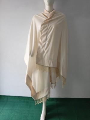 Designers Velvet Shawl in Offwhite Shade