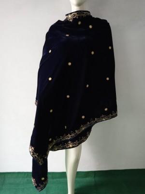 Simplest Black Velvet Shawl Designs
