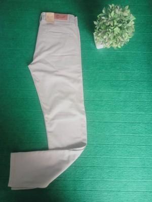 Men Cotton Jeans in Khaki Colour