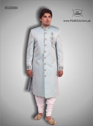 Men's Fancy Shairwani in Sky Blue Colour