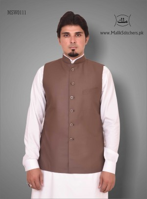 Men's Austere Looking Waistcoat in Brown