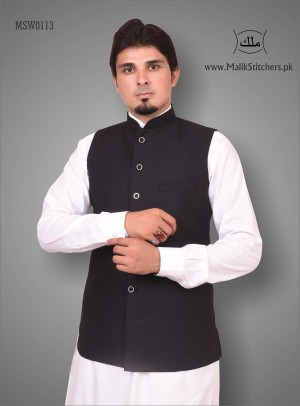 Gents Austere Looking Waistcoat in Black
