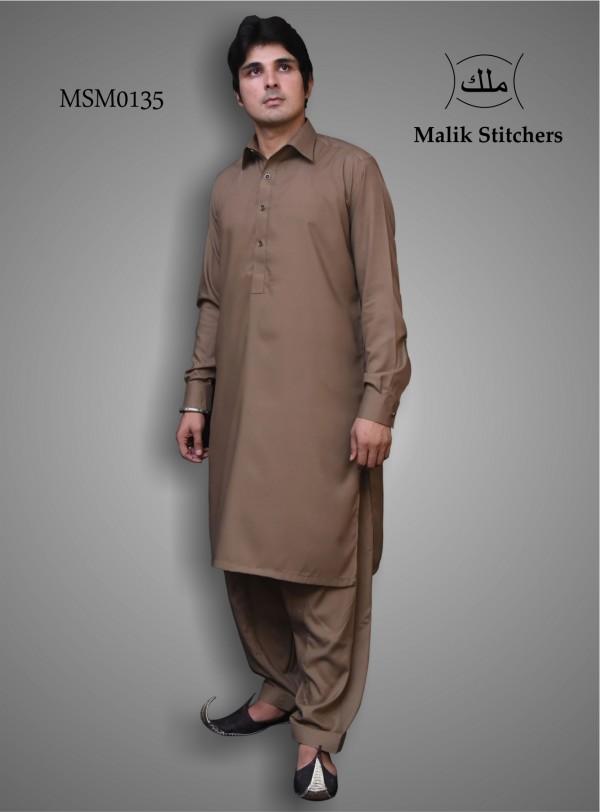 Buy gents shalwar kameez in brown colour on wholesale
