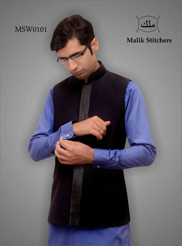Fany Waistcoat in Black and Grey Combination