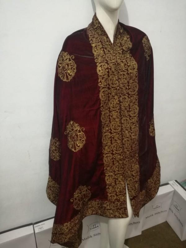 Fully Embroidered Velvet Shawls
