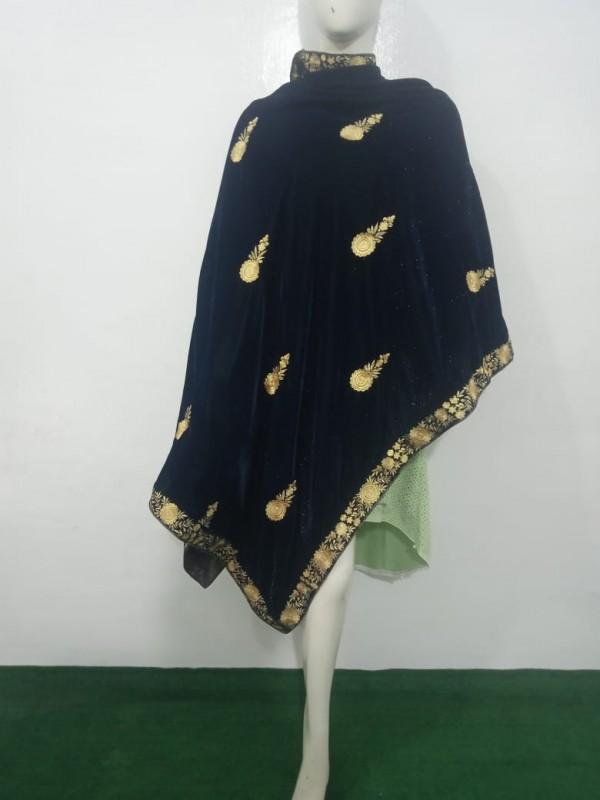 velvet shawl design
