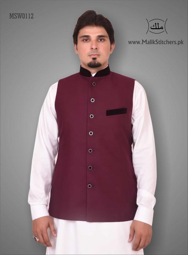 Men's Royal Majesty Style Waistcoat in Maroon