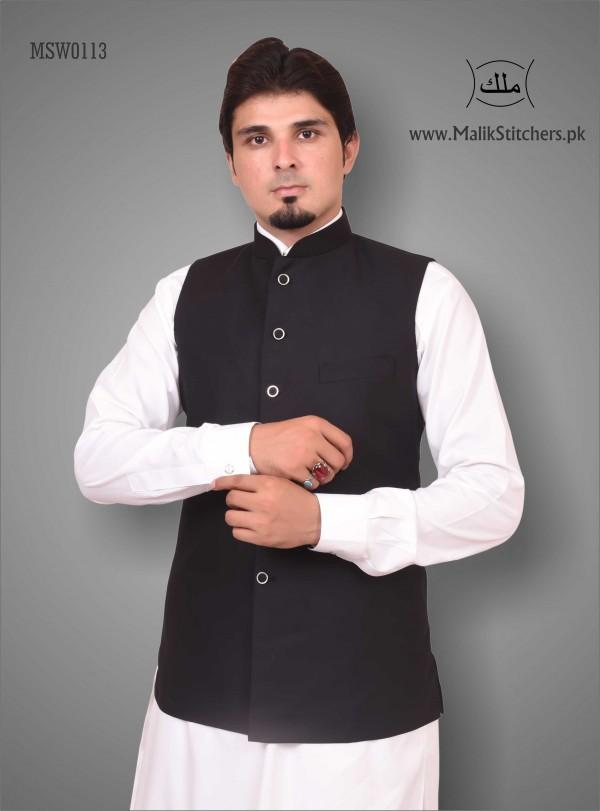 Gents Austere Looking Waistcoat in Black