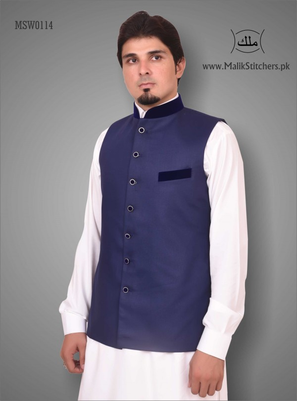 Gents Stylish Waistcoatt in Navy Blue Colour