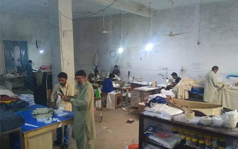 Manufacturing unit of malik stitchers